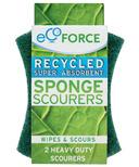 EcoForce Recycled Heavy Duty Super Absorbent Sponge Scourers