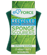EcoForce Recycled Heavy Duty Super Absorbent Sponge Scourers