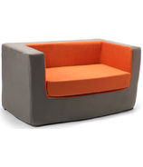 Monte Design Cubino Loveseat Charcoal & Orange