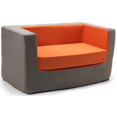 Monte Design Cubino Loveseat Charcoal & Orange