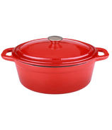 BergHOFF Neo 8 Quart Cast Iron Oval Covered Casserole Red