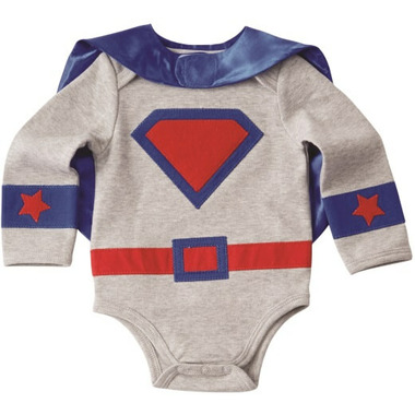 Mud Pie Blue Superhero Onesie Crawler
