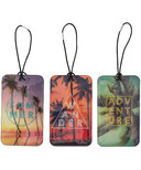 My Tag Alongs Palm Trees Luggage Tags Set