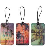 My Tag Alongs Palm Trees Luggage Tags Set