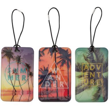 MYTAGALONGS Palm Trees Luggage Tags Set