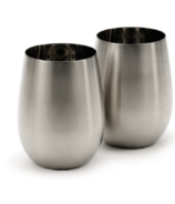 RSVP Endurance Stemless Stainless Steel Wine Glasses