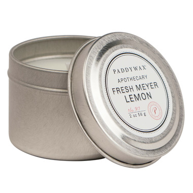 Paddywax Blue Apothecary Travel Tin Fresh Meyer Lemon Candle
