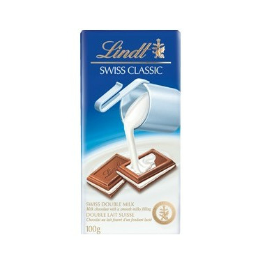 Lindt Swiss Classic Double Milk Chocolate Bar