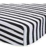 Little Unicorn Cotton Muslin Crib Sheet Ink Stripe
