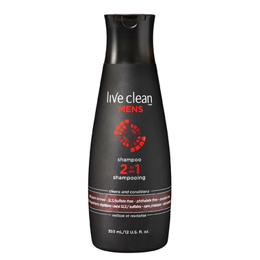 Live Clean Mens 2-in-1 Shampoo