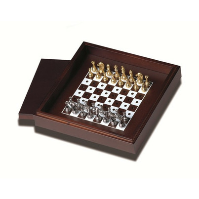 Buy deluxe wooden travel chess set from canada at free shipping - Deluxe chess sets ...