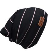L&P Apparel Boston Slouchy Beanie Black & Vintage Pink