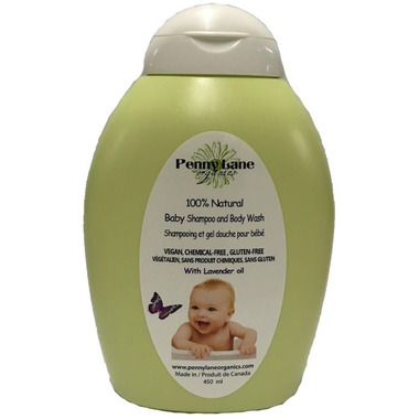 Penny Lane Organics 100% Natural Baby Shampoo and Body Wash Lavender