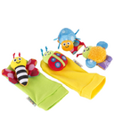 Lamaze Gardenbug Foot Finder and Wrist Rattle Set