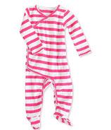aden + anais Long Sleeve Kimono One-Piece Shocking Pink Blazer Stripe