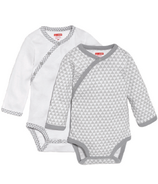 Skip Hop Petite Triangles Side-Snap Long Sleeve Bodysuit Grey