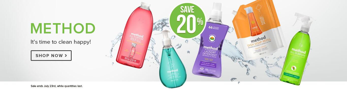 Save 20% on Method