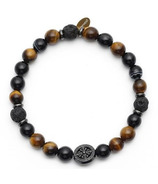 Oriwest Men's Tiger Eye Lava Bead Bracelet