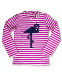 Shade Critters Rashguard Magic Sequin Flamingo