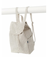 Baggu Drawstring Backpack in Natural Grid