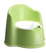BabyBjorn Potty Chair Green & White