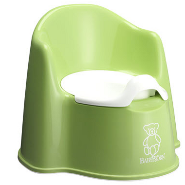 BabyBjorn Potty Chair Green & White