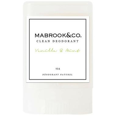 Mabrook & Co. Clean Deodorant Vanilla & Mint Travel Size
