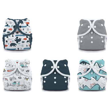 Thirsties Duo Wrap Snap Diaper Package Adventure Trail