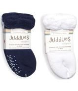 Juddlies Infant Socks Patriot Blue & White
