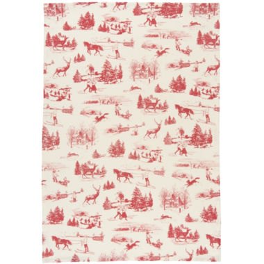 Now Designs Holiday Toile Dish Towel