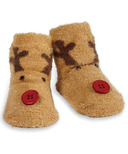 Mud Pie Chenille Reindeer Socks
