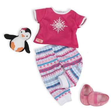 Our Generation Snow Adorable Snowflake PJ\'s Outfit