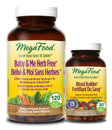 MegaFood Baby & Me Herb Free Multi-Vitamin with Bonus Blood Builder