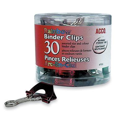 Acco Rainbow Binder Clips