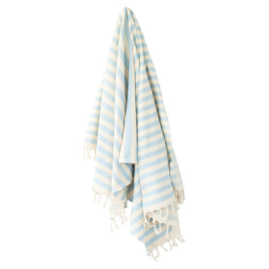 Stray & Wander Harbour Turkish Towel Crystal Blue