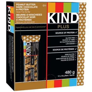 KIND Plus Peanut Butter Dark Chocolate + Protein Bars