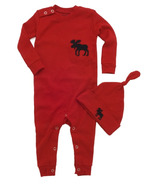 Hatley Baby Romper & Cap Trailing a Little Behind