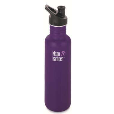 Klean Kanteen Classic Water Bottle with Sport Cap Berry Syrup Matte