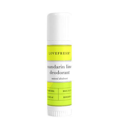 LOVEFRESH Mandarin Lime Natural Cream Deodorant Travel Stick