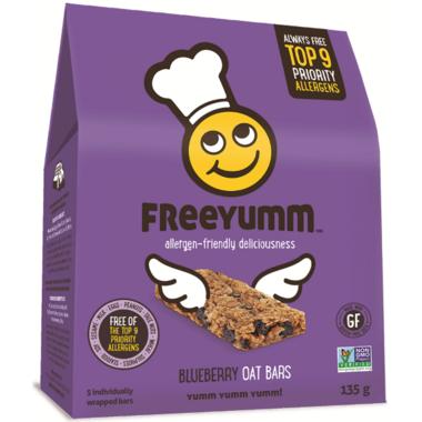 FreeYumm Blueberry Oat Bars