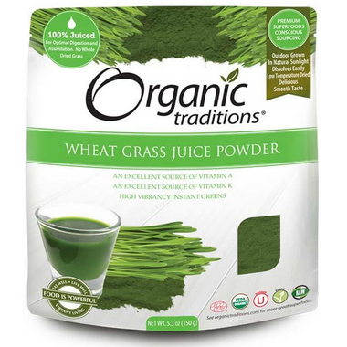 Organic Traditions Wheat Grass Juice Powder