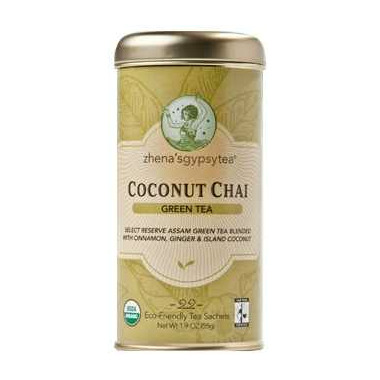 Zhena\'s Gypsy Tea Coconut Chai Green Tea