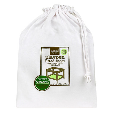 Kushies Organic Jersey Fitted Playpen Sheet