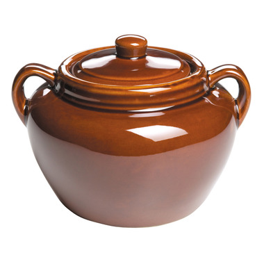 Earthenware Bean Pot with Lid