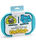 Kinderville Little Bites Divided Plate Blue