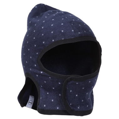 Kombi The Baby Balaclava Black Iris Micro Dot