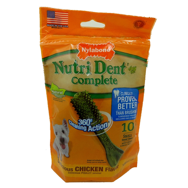 Nutri Dent Complete Dental Chews Chicken Small Size 10 Pack