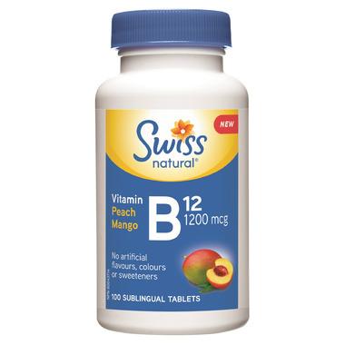 Swiss Natural Vitamin B12 1200 mcg