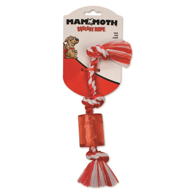 Mammoth Small 10 Inch Squeaky Rope Dog Toy