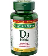 Nature's Bounty Vitamin D3 Softgels 1000 IU